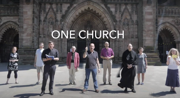 One Church - Leaders Outside Cathedral